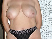 Mature blonde loves to show her body in lingerie