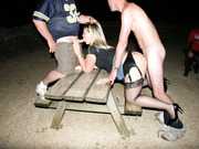 Dogging wife being fucked by various strangers outdoors in public