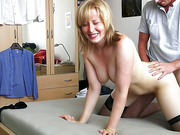 Blonde hot milf fucked hard and creampied by husband