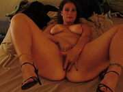 Hot BBW wife masturbating to orgasm for hubby